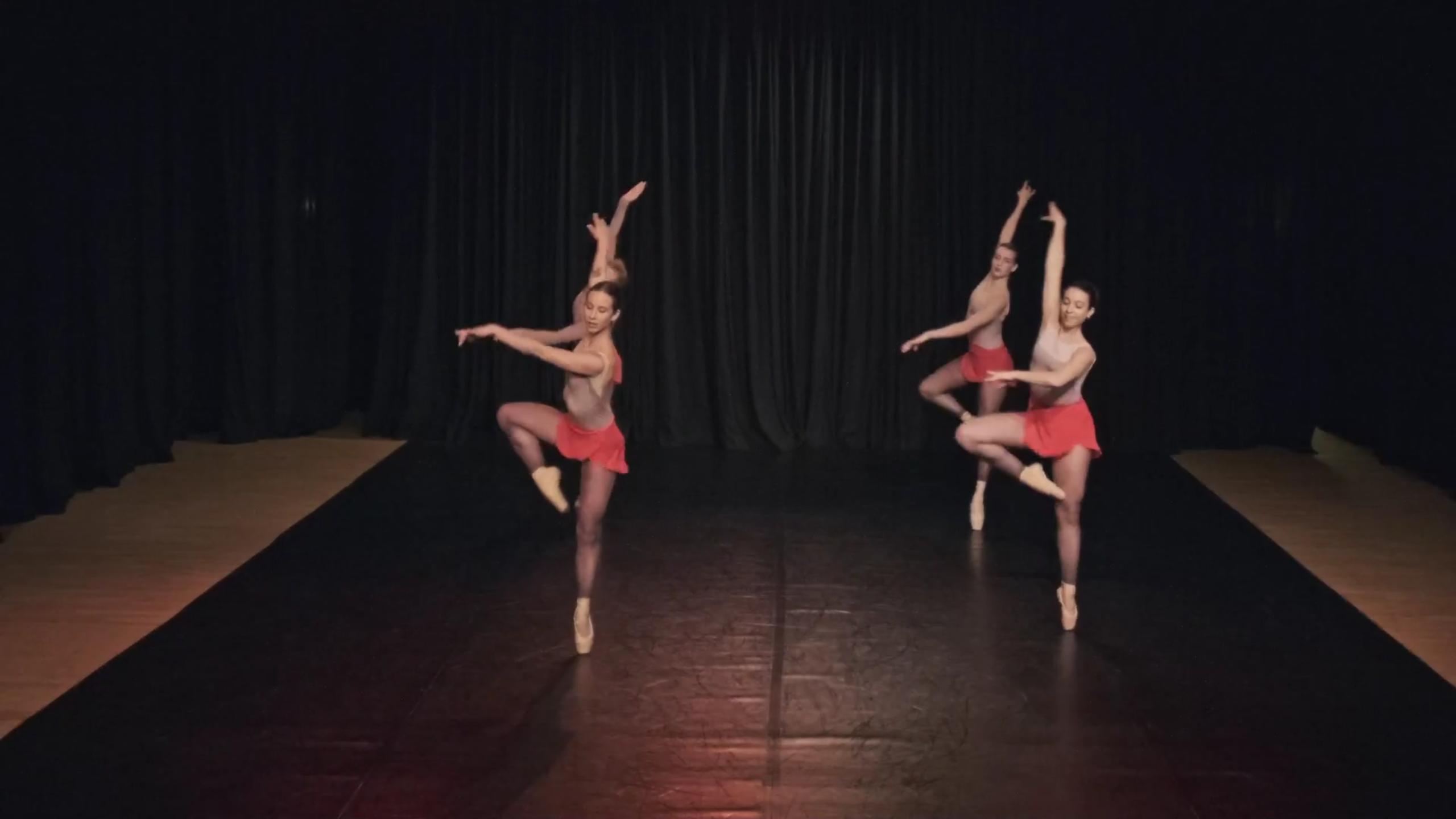 Hack Ballet performance at the Margaret Shepherd Studio Theatre